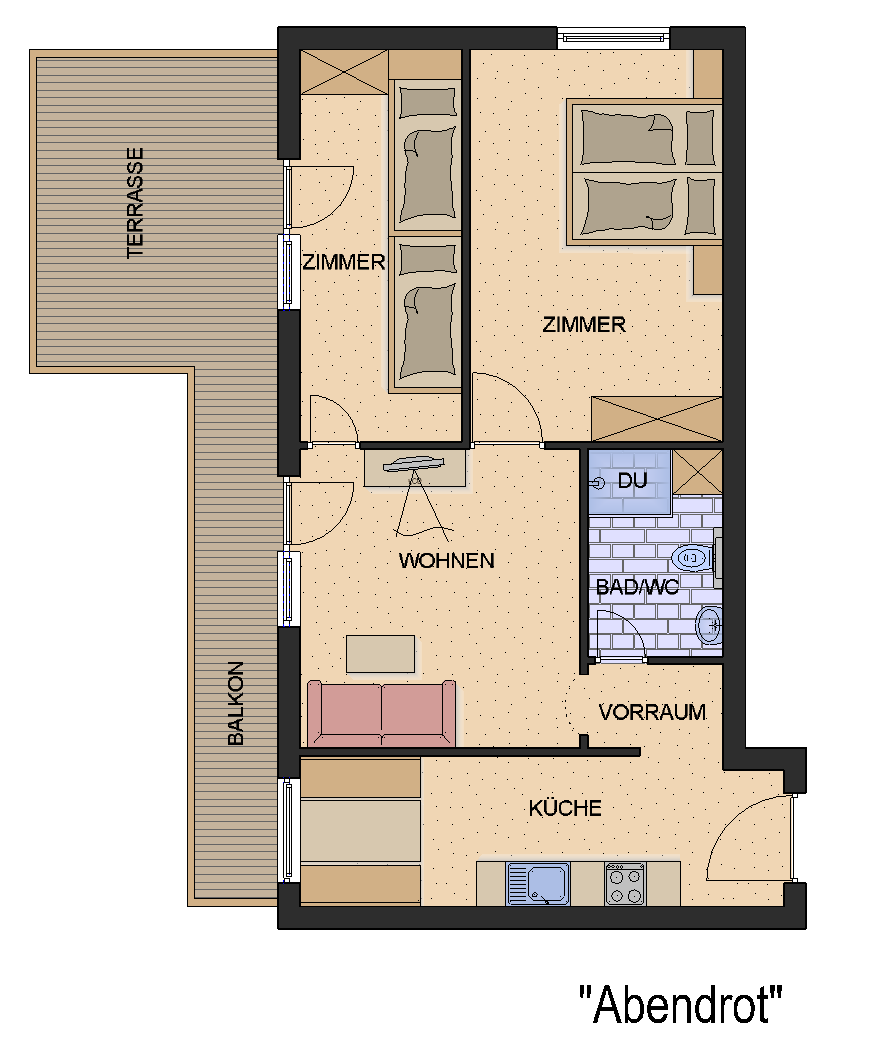 Floor plan from our Apartment Abendrot