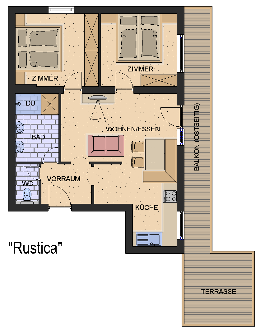 Floor plan from our Apartment Rustica
